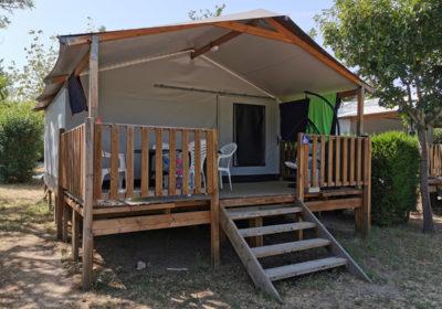 Bungalowtent Premium 25 m² – 2 slaapkamers – 5 personen