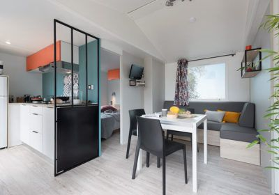 Mobil-home Luxe 32 m² 3 chambres 7 personnes